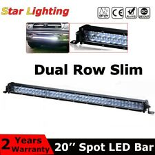 5D 20inch Slim LED Work Light Bar Dual Row Spot Fog Lamp Offroad SUV ATV Truck