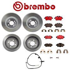 For Mini R55 R56 R57 Front Rear Brake Disc Rotors Ceramic Pads Sensor Kit Brembo