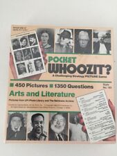 Pocket Whoozit? A challenging strategy picture game New no 161 Arts & Literature