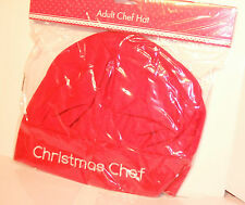 2 X Adult Christmas Chef Felt Hat Novelty Gift One Size Unisex. Choose any Two