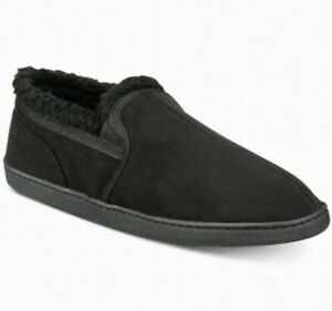 Gold Toe Men's Slippers Black Size XL Size 12 Slip On Scuffs Suede $40