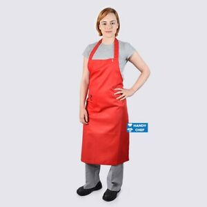 Chef Red Bib Aprons with Pocket,..See Handy Chef for Chef Jackets,Pants....