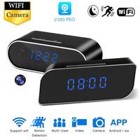 New 1080P Wifi Alarm Clock Camera Night Vision Motion Sensor Security Nanny Cam