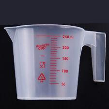 250ml plastic clear measuring cup handle liquid pour spout home kitchen toolsVG