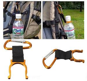 Bag Carabiner Belt Clip Water Bottle Holder Hiking Camping Snap Hook Key Chain P