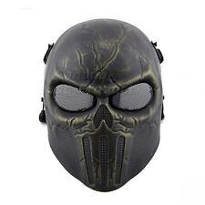 Tactical Military Skull Skeleton Full Face Mask Hunting Costume Bronze