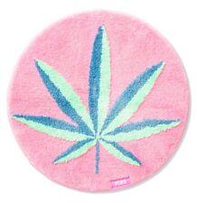 Nwt Vs Pink Coco Chill hemp 420 weed leaf round rug bath mat
