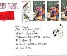KENYA Air Mail Cover EXPRESS *Kisumu* Birds MISSIONARY Austria 1994 CA201