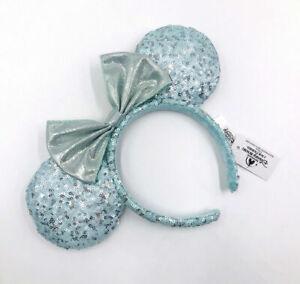 Frozen Arendelle Aqua Disney Parks 2021 Minnie Ears Gift Girl Blue Headband