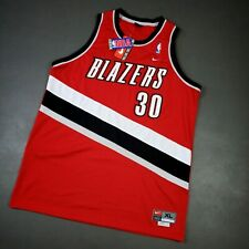 100% Authentic Rasheed Wallace Vintage Nike Blazers Swingman Jersey Size 48 XL