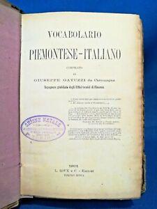 Gavuzzi, Vocabolario Piemontese-Italiano. Prima edizione 1891 completo Dialetto