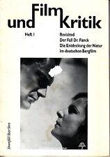 Und Film Kritik FilmKritik Heft 1 Arnold Fanck Mont Blanc 1992 German Magazine