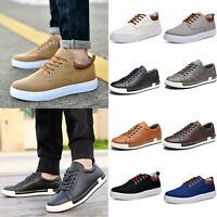 Mens Classic Lace Up Flats Sneakers Trainers Sport Casual Athletic Driving Shoes