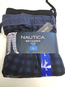 Nautica Mens Fleece Sleepwear Lounge Pants 2pk Size L Brand New