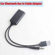 Car Bluetooth Radio AUX Adapter Power Supply Via USB Cigarette Lighter For BMW