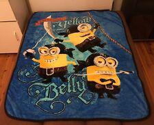 All Season Faux Mink Blanket Throw 100cmx130cm - Despicable Me Minion Boy Blue