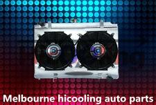 3 Rows Aluminum Radiator+Fans+Shroud For NISSAN SILVIA S14 S15 SR20DET 1994-2002