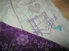 Naartjie Top Peasant Woven Purple Wisteria Adjustable Cuff Heart Pant size 5, 6