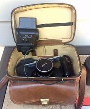 Konica Autoreflex Tc 35mm Slr Film Camera with accessories Lot
