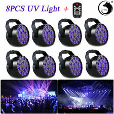 U'King 8pcs 18LEDs UV/RGB 36W DMX512 7CH Stage Par Light DJ Disco Wedding+Remote