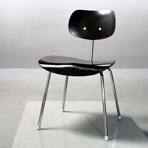 Stuhl SE 68, Wilde+Spieth, Egon Eiermann SE68, Chair Vintage schwarz black 9127