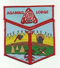 SCOUT BSA OA LODGE 257 1998 NOAC SET RED RE AGAMING INDIANHEAD COUNCIL MN WI WWW