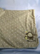 """Carters Little Monkey Brown Polka Dot Sherpa Baby Blanket Just One You 30"""" x 40"""""""