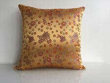 """Golden Pillow Cover, 18""""x18""""."""