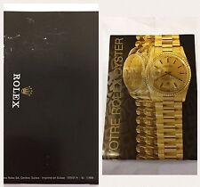 booklet rolex daytona Francia 1999