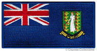 BRITISH VIRGIN ISLANDS FLAG embroidered iron-on PATCH CARIBBEAN EMBLEM
