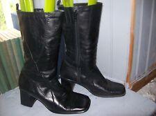 bottes vintage plein cuir noir .T 39 (28/A/G)