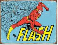 The Flash - Retro Metal Tin Sign Wall Art