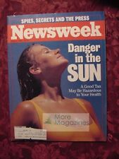 NEWSWEEK June 9 1986 SUN TANS Screen Skin Cancer Tom Cruise Tax Reform +++