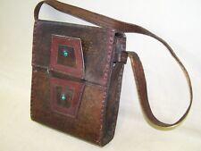 Kleine alte Leder Umhängetasche Ledertasche, Vintage Design