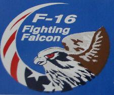 F-16 FIGHTING FALCON MINI DECAL ZAP BUMPER STICKER  US AIR FORCE  PILOT CREW WOW
