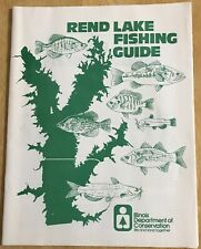 Vintage 1975 REND LAKE Fishing Guide & Maps Illinois Dept. Conservation Boating