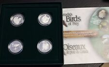 2000 Canada 50 Cents proof silver Birds of Prey 4 coins set