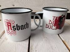 "2 x Asbach Uralt Tasse Emaille Mule Cup "" The Big Buck "" Glas Gläs..."