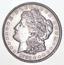 Choice AU/UNC 1921-D Morgan Silver Dollar Last Year of Issue - Great Luster *633