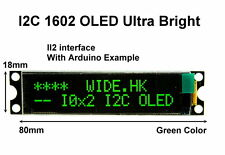 IIC / I2C 1602 16x2 Green OLED Module Display - For Arduino / PIC / AVR / ARM