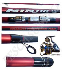 kit canna ninjia bolognese 7m mulinello pesca mare fiume carbonio 7 metri