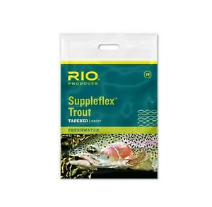 Rio Suppleflex Tapered Trout Fly Leaders Tippet Material - 9ft Leaders