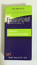BRAND NEW! FRESHKOTE OPHTHALMIC LUBRICANT DRY EYE DROP 15 ML BOTTLE! EXP 3/2018