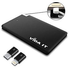 Banco de alimentación portátil pequeño ligero 2500mAh USB Cargador de batería construido en el cable