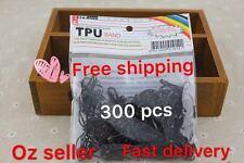 300 Pcs Hair Elastics Ties Babies Girls Black Free Shipping Rubber Plat tie