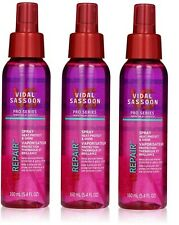 Lot of 3 New Vidal Sassoon Pro Series Heat Protect and Shine Spray 5.4 fl oz x 3
