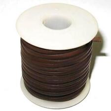 """Calf Leather Lace 3/32"""" 25 Yards Dark Brown"""