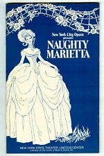 Vintage 1978 NAUGHTY MARIETTA Playbill! Rare New York City OPERA Program!