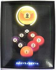 High 9 ball pool room neon Led sign poster billiards pool wall lamp light gift
