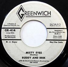 BUDDY & BRIK 45 Misty Eyes / Stick Around GREENWICH promo TEEN Pop e312